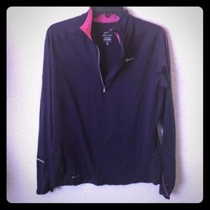 Purple and Pink Nike Dri-fit Pullover